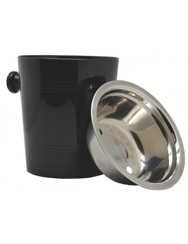 escupidera gourmet 0,5 L negra inox
