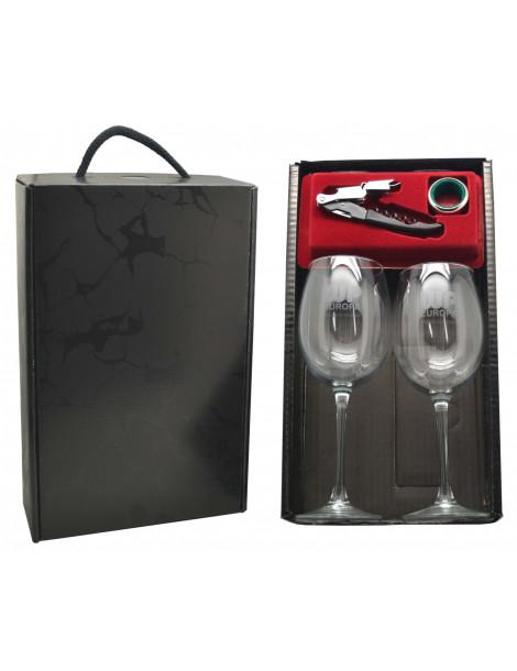 estuche experiencia del vino cristal