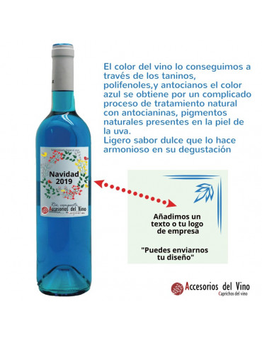 botella vino azul