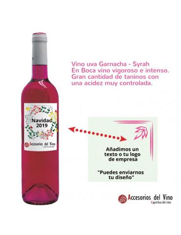 botella vino rosa