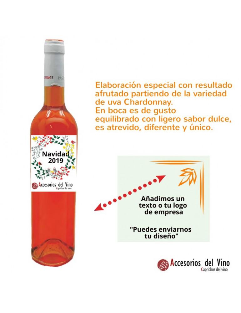 botella vino naranja