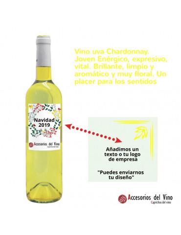 botella vino amarillo