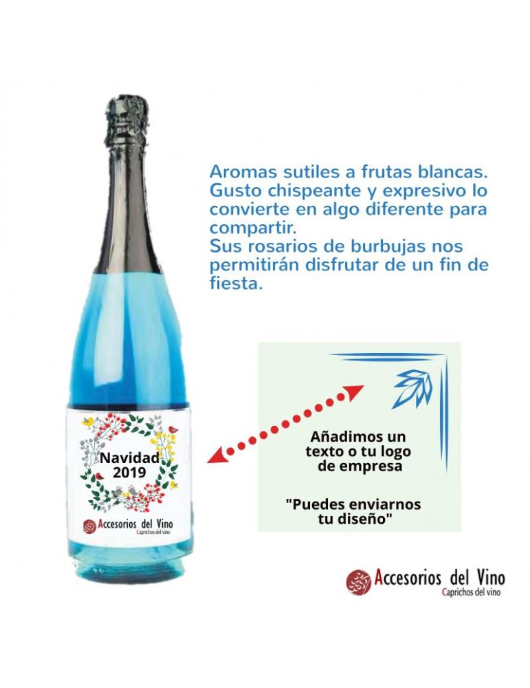 botella cava azul