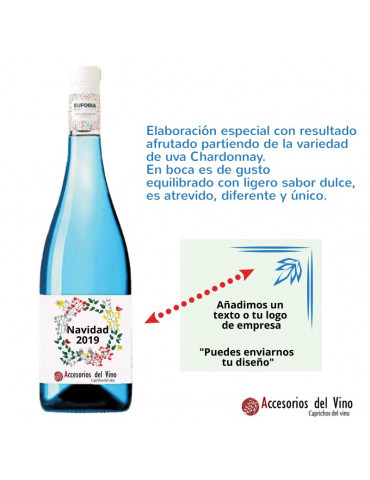 botella frizzante azul