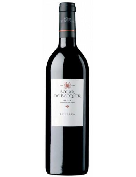 botella vino solar de becquer reserva