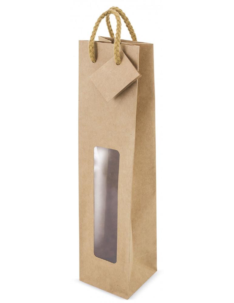 bolsa papel kraft con ventana 1b pack 100 uds.