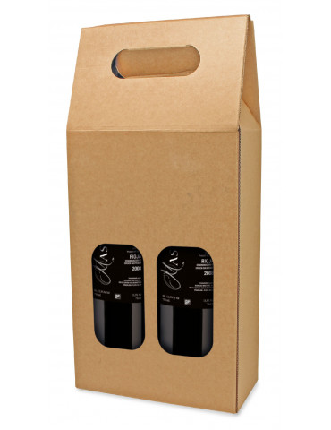 estuche carton marron kraft 2b  pack 50 uds