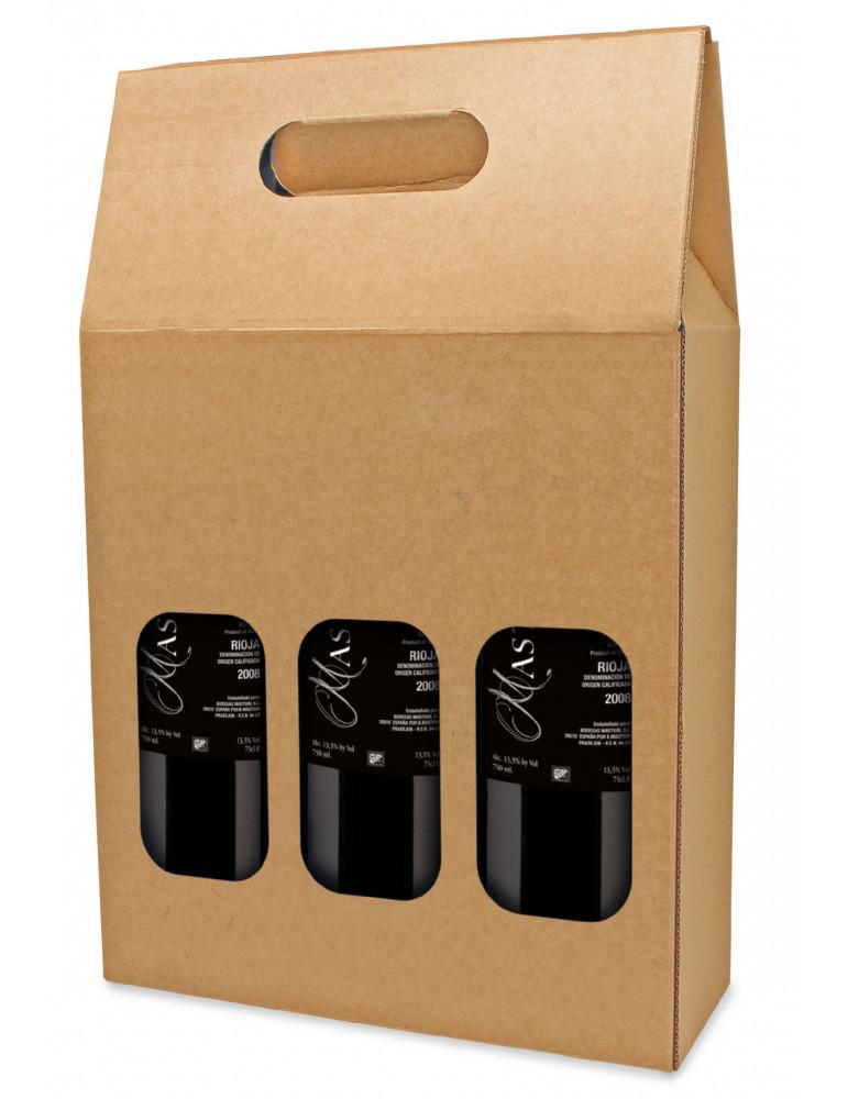 estuche carton marron kraft 3b pack 50 uds